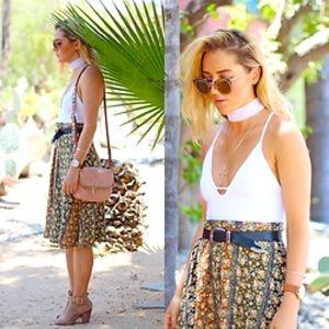 BEBOP Floral Button-up midi Skirt NWOT
